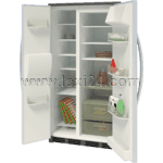 side-by-side refrigerator and freezer