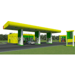 overview of petrol station