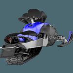 snowmobile: rear view