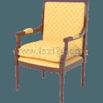 cushioned armchair