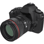 single-lens reflex (SLR) digital camera: front view
