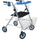 four-wheeled rollator