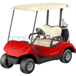 golf cart: front view