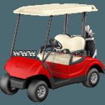 golf cart: front view