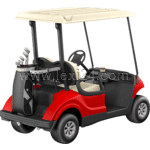 golf cart: back view
