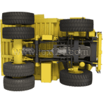 haul truck: bottom view
